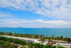 O mar e o céu de Sanya 1 (Hainan, China) Imagens de Stock Royalty Free