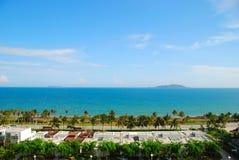 O mar e o céu de Sanya 2 (Hainan, China) Imagens de Stock Royalty Free