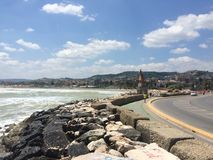 O mar e a paisagem de San Benedetto del Tronto fotografia de stock royalty free