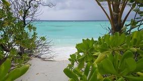 O mar em Maldivas Imagens de Stock