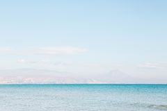 O mar em San Juan Imagem de Stock