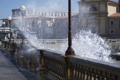 O mar espirra Fotografia de Stock Royalty Free