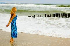O mar está chamando-me na tempestade Fotos de Stock Royalty Free