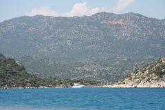 O mar Mediterrâneo. Imagens de Stock
