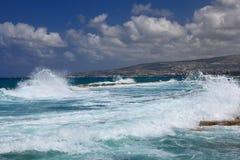 O mar Mediterrâneo chipre Paphos Fotografia de Stock Royalty Free