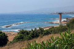 O mar Mediterrâneo chipre Paphos Imagens de Stock Royalty Free