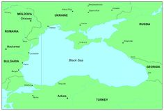 O Mar Negro Imagem de Stock