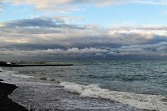 O Mar Negro antes da tempestade foto de stock royalty free