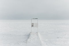 O Mar Negro congelado Foto de Stock