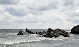 O Mar Negro em Sinemorec, Bulgária em agosto de 2016 Foto de Stock