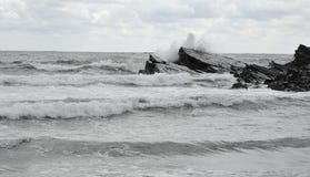 O Mar Negro em Sinemorec, Bulgária em agosto de 2016 Imagens de Stock