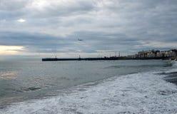 O Mar Negro em Sochi imagens de stock