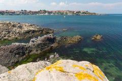 O Mar Negro em Sozopol, Bulgária fotos de stock royalty free