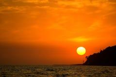 O Mar Negro no por do sol Fotografia de Stock