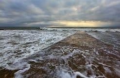 O Mar Negro, Sochi, tempestade Imagem de Stock Royalty Free