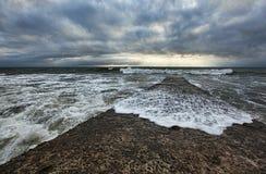 O Mar Negro, Sochi, tempestade Imagens de Stock