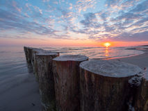 O mar no nascer do sol Fotografia de Stock Royalty Free