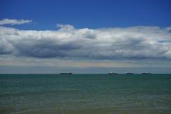 O mar no passo de Kerch Imagens de Stock
