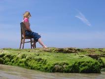 O mar senta-se Fotografia de Stock Royalty Free