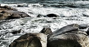 O mar tem a onda Imagem de Stock