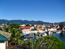 O mar vê Florianopolis Imagens de Stock