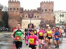 O Mararathon de Roma, o 23 de março de 2014, Itália Imagem de Stock