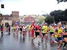O Mararathon de Roma, o 23 de março de 2014, Itália Fotografia de Stock