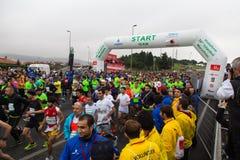 36.o maratón de Estambul Foto de archivo