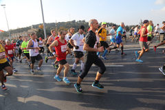 37.o maratón de Vodafone Estambul Fotografía de archivo