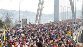 37.o maratón de Vodafone Estambul Foto de archivo libre de regalías