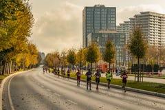 40.o maratón internacional y atletas de Estambul fotos de archivo libres de regalías