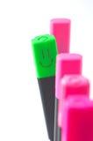 O marcador com um sorriso difere de outro no Fotos de Stock