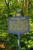O marcador histórico de Northkill Amish imagens de stock