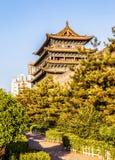 O marco da cidade de Taiyuan que constrói a porta norte pequena fotos de stock royalty free