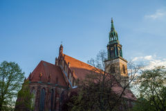 O Marienkirche de Berlim (a igreja de St Mary) Foto de Stock Royalty Free