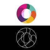 O marquent avec des lettres le logo, icône, calibre de conception de vecteur Photographie stock