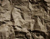O marrom escuro de saco de papel enrugou o papel cru 02 Foto de Stock Royalty Free