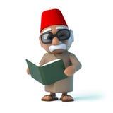 o marroquino 3d lê um livro Imagem de Stock