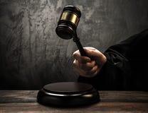 O martelo do juiz Imagens de Stock