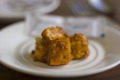 O masala da manteiga de Paneer igualmente conhecido como o prato indiano saboroso picante do requeijão serviu como um molho para  imagens de stock
