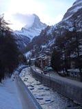 O Matterhorn poderoso Fotografia de Stock