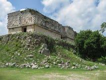 O Maya de Uxmal arruina o del Gobernador México das casas Foto de Stock