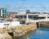 O Mayflower pisa Plymouth Fotografia de Stock Royalty Free