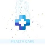 O MBE médico do logotipo dos cuidados médicos do logotipo do ícone do vetor vira de repente na moda denominado Fotos de Stock