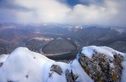 O meandro ocidental de Morava Fotos de Stock Royalty Free