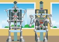 O mecanismo cybernetic ? contratado nos treinamentos ilustração stock