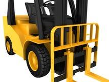 O mecanismo do caminhão de empilhadeira e da roda dianteira Imagens de Stock Royalty Free