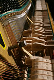 O mecanismo do piano Fotos de Stock