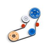 O mecanismo movido a correia em 3D ilustração do vetor