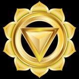 O medalhão da jóia gosta do Chakra Hindu de Manipura Fotos de Stock Royalty Free